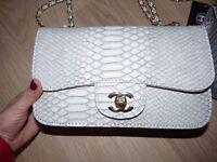 Grey Ladies Chanel alligator style brand new