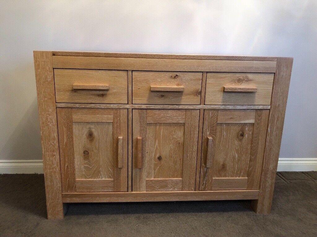 Solid Oak Wooden Sideboard for sale