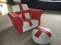 Child's England chair and foot-stool