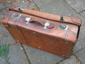 Antique Leather Suitcase....John Pound & Co.