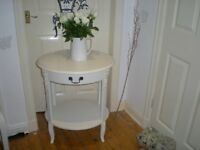 Elegant bedside tabl Florence bought from J B McLeans interiors