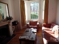 Three piece leather sofa suite