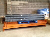 4 bay run of dexion pallet racking ( storage , industrial shelving )