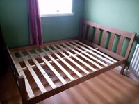 Hand Made Solid Wood Shaker Style Bed Frame - King Size 5ft