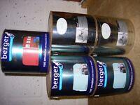 5 tins (2.5l) of Matt Emulsion Paint - £5 the lot