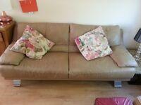 Beige sofa