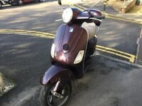 PIAGGIO VESPA LX 125cc maroon 2006 good condition excellent runner!!