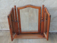 Triple wooden mirror suitable for dressing chest (Delivery)