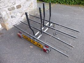 Pendle four bike wheel support towbar rack with light bar - a project
