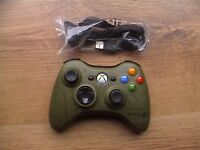 xbox 360 HALO 3 controller like brand new + CHARGER LEAD