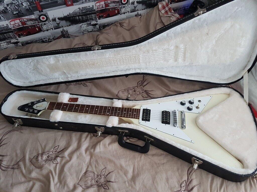 BLACK MATTE Pickguard For /'67 Reissue Series Gibson Flying V NEW