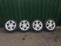 "Mercedes Genuine 17"" Alloy wheels Good Tyres Ref.8"