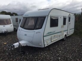 Coachman amara 2001 model 4 berth full awning end washroom hot and cold water electronic heating