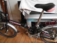 "Folding bike Shimano Super travelor 20"" wheel"