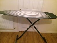 A large size brababtia ironing board with heat resistant fabric for £30