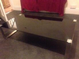 Japanese black glass coffee table