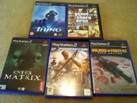 PS2 Game Bundle soldier of fortune.enter the matrix.medal of honour.GTA.thing