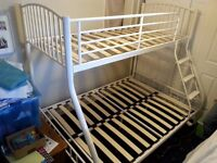 STILL AVAILABLE! Triple bunkbed frame incl. instructions, 9 months old, excellent condition