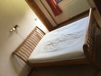 """Double Bed Frame 4'6""""sleigh style"""
