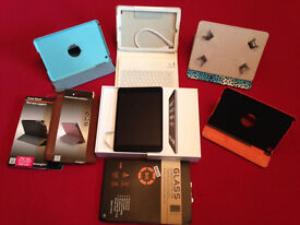 iPad Mini 16gb with Case + Glass Screen Protector Cover - Excellent Condition - BOXED