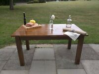 Handmade solid wood plank top dining/kitchen table. Rustic farmhouse. local delivery.