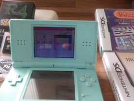 Nintendo DS Lite complete with games and charger, excellent condition