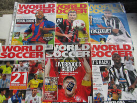 Six Random World Soccer Magazines from 2005.