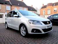 SEAT ALHAMBRA 2.0 TDI CR SE DSG AUTOMATIC 5 DOOR FSH HPI CLEAR 2 KEYS PCO BADGE EXCELLENT CONDITION