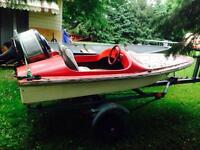 10' speed boat, 30hp and trailer