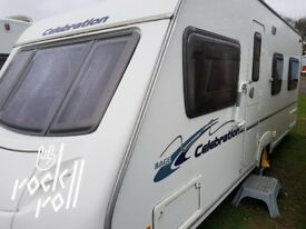 ACE JUBILEE 500,FIXED BED,LUXURY 4 BERTH CARAVAN 2008 NO DAMP AND SOLID WITH NO DENTS ETC VGC