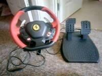 Thrust master xbox wheel n pedals