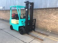 Puma 1.5ton gas forklift, with sideshift, solid tyres. Ready for work