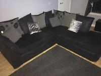 Black/grey Corner couch