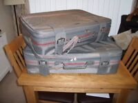 A matching pair of suitcases