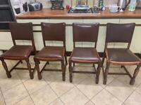 Four 1950s Ercol dining chairs