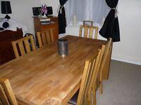 Solid Oak Schreiber Table