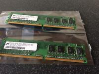 2 x 1gb ddr2 ram memory
