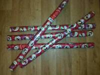 5 New rolls of Xmas gift wrapping paper