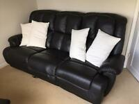 3 Seater SCS Leather Electric Reclining Sofa