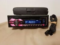 CAR HEAD UNIT PIONEER MP3 CD PLAYER WITH BLUETOOTH USB AUX 4x 50 AMPLIFIER AMP STEREO RADIO BT