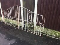 Set Of 10ft Wide Arched Wrought Iron Driveway Gates- DELIVERY/COLLECTION WIGAN