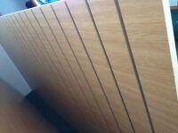 2 large shop fitting panels