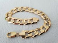 9ct solid gold heavy chunky curb bracelet 39.5g