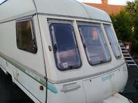 Swift Silouhette Touring Caravan. Light Weight (650kg), 2 Berth, DG windows, Bathroom, All works!