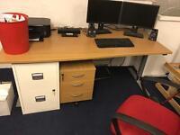 Electric adjustable office desk