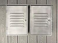 2 Matt Black old School Metal Cabinets
