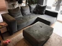 Sofa L shape with foot rest couch DFS MUST SELL MAKE AN OFFER!