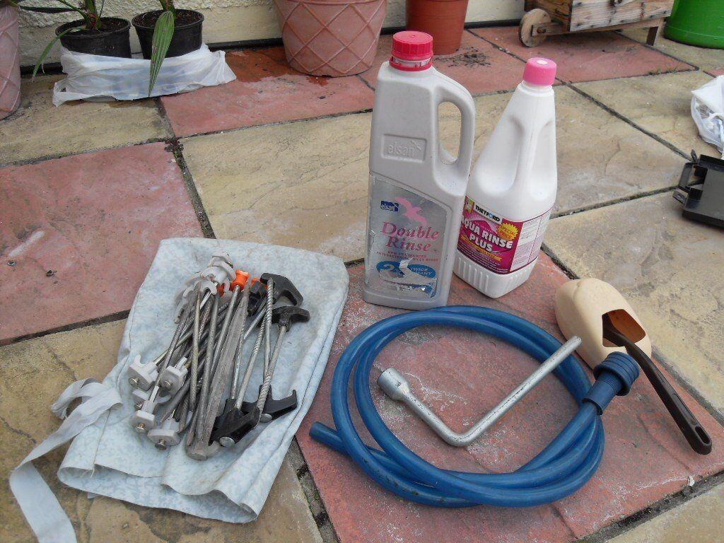 Aqua rinse and awning pegs