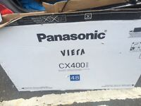 Panasonic viera cx400 series 48 inch tv about 4 weeks old immaculate like new