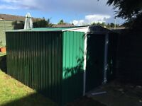 8x10 metal shed only 6 months old buyer to dismantle and collect very good condition
